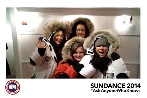 Outerwear Photo Kiosks - Canada Goose Set Up a Fun Photo Kiosk at the Sundance Film Festival