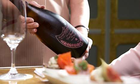 Inflight Champagne Dinners - Emirates' Inflight Menu Pairs Decadent Dom Perignon with Gourmet Food