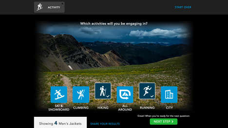 Jacket Shopping Quizzes - The Arc'teryx Shell Finder Helps Consumers Buy a Jacket Through a Quiz
