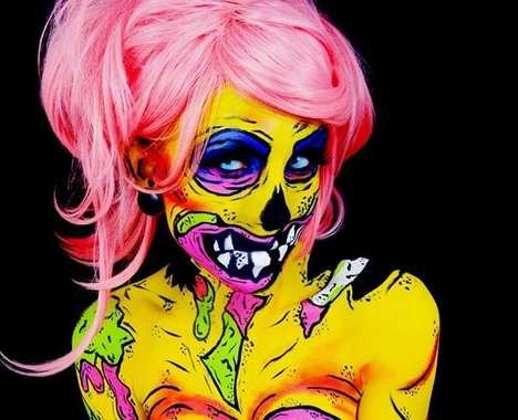 Halloween-Inspired Body Makeup