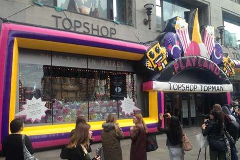 Twitter-Powered Shopping Cranes - The Topshop Playland Pop-Up Lets Visitors Pay with a Tweet