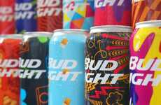 Music Festival Beer Cans - The Latest Bud Light Cans are Individually Decorated with Bright Colors