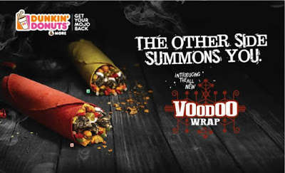 Color-Coded Snack Wraps - Dunkin Donuts' Voodoo Veggie Wraps Come in Green for Vegetarians