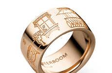 Birthe Beerboom's Ring Designs Depict Scenes of Moving City Life