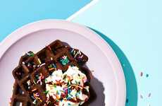 Brownie Dessert Waffles - This Chocolate Waffle is Prepared with a Decadent Brownie Batter