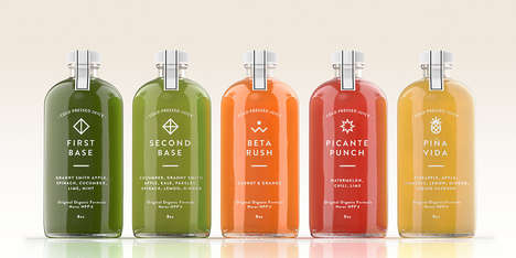 Raw Juice Labratory Branding - ELXR is a Toronto Cold-Pressed Juice Bar with Clever Packaging