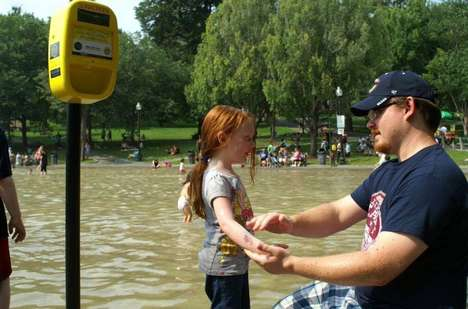 Public Sunscreen Dispensers - The City of Boston Makes Applying Sunscreen Outdoors Top-of-Mind
