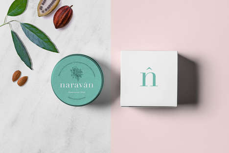 Chemical-Free Skincare Branding - Naravan is an All-Natural Cosmetics Range with a Simple Look