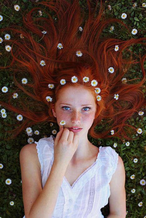 Candid Redhead Photography - Maja Topčagić Captures Raw Images of Red-Haired Subjects