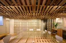 Temporary Shipping Crate Desks - This Temporary Office Space in Tokyo Uses Unconventional Designs