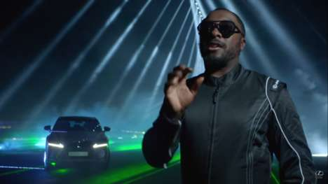 Musical Laser Racetracks - This Video Shows Will.i.am and Lexus Unveil an Auto Version of Rock Band