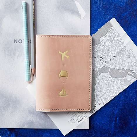 Elegant Travel Accessories - This Leather Passport Cover from West Elm is Chic and Practical