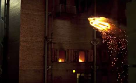 Flaming Superhero Drones - This Fantastic Four Promo Drone Takes the Shape of the Human Torch