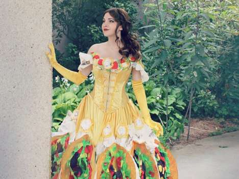 Taco-Themed Dresses - This Unique Cosplay Outfit Puts a Distinct Spin on Disney's Princess Belle