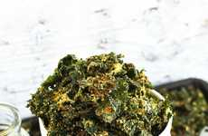 Cheesy Kale Chips - These Healthy Vegetable Chips Feature a Delicious Cheese Coating