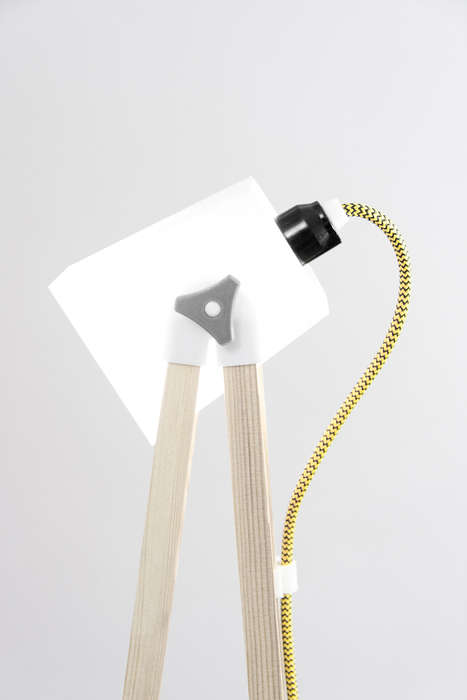DIY Standing Lamps - This UAU Project Provides All of the Pieces Needed to Assemble a DIY Light