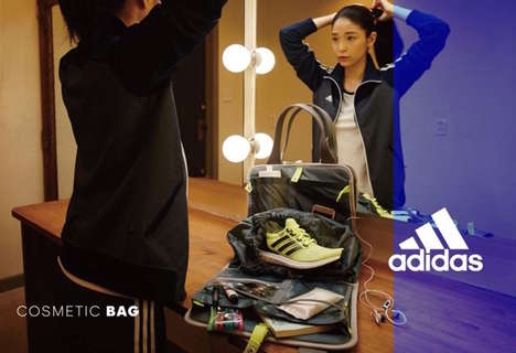 Sneaker Tote Bags - These Cosmetic Bags from Adidas Carry All of a Runner's Essentials