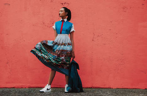 VIbrant Street Style Editorials - The Ones 2 Watch 'Colorful Walls' Feature Highlights Edgy Fashions