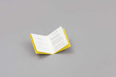 Book-Shaped Business Cards - These Business Cards Cleverly Reflect the Company's Product