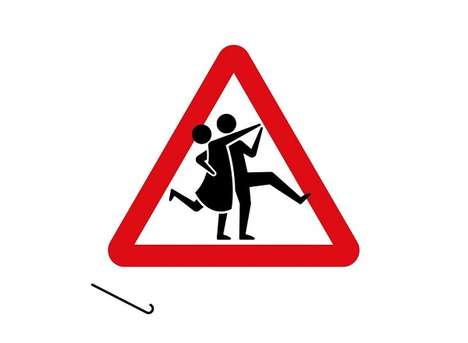 Recreated Elderly Road Signs - These Quirky Re-Invented Road Signs Comically Display Canes & Walkers