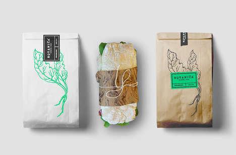 Earthy Restaurant Branding - Botanica's Brand Identity Boasts Eco-Friendly Design Elements