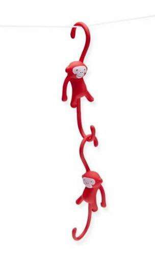 Monkey-Mimicking Hooks - These Kitchen Hooks are Tiny Monkeys That Hang Utensils from Their Tails