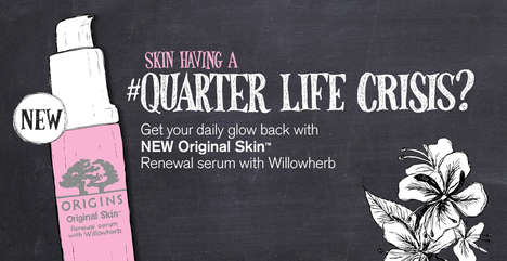 Millennial Skin Care Ads - This #QuarterLifeCrisis Ad from Origin Targets Twenty-Somethings