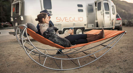 Dual-Person Rocking Chairs - This Contemporary Rocker Features a Hammock-Style Frame