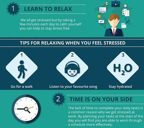 Workplace De-Stressing Guides - Syntax's Infographic Addresses How to Prevent Stress at Work