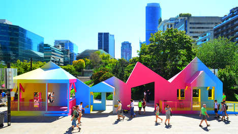 Public Porch Pavilions - These Colorful Porches Create a Social Gathering Space for VIVA Vancouver