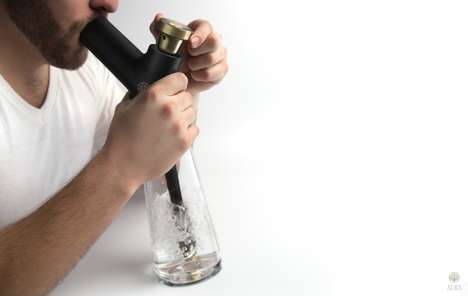 Sculptural Smoking Systems - The Aura Water Pipe Design Updates Looks & Functions of Smoking Devices