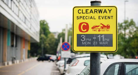 Energy Efficient Road Signs - These Elctronic Paper Road Signs Run Entirely on Sunlight