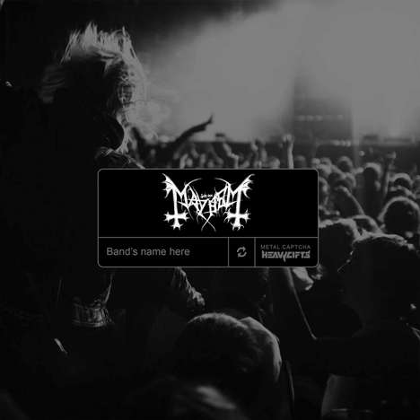 Hard Rock Spam Checkers - HeavyGifts' Unique Web Captcha Tests How Metal a Music Fan Is
