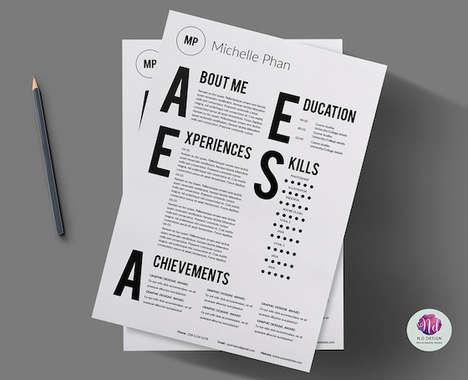 Modern Typographic CVs