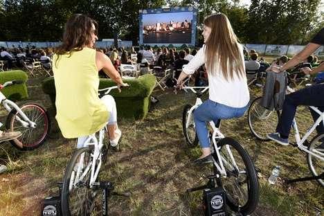 Bike-Powered Outdoor Cinemas - The Ben & Jerry's Pop-Up Movie Theater Used Renewable Energy