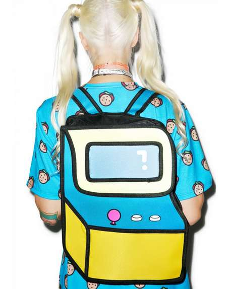 2D Gamer Bags - The Wana-B-Mo Cartoon Bag Portrays Gamer Style Through a Deceiving Design
