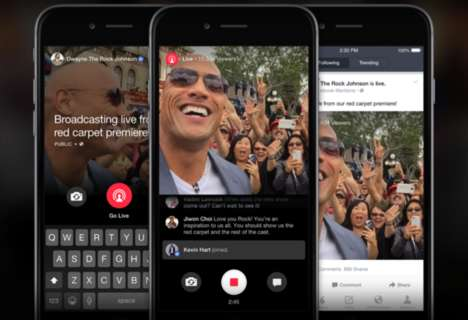 Celebrity Live Streaming Apps - Facebook's Mentions App Can Now Stream Celebrities Live to Fans