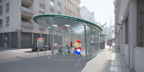 Movie Character Subway Art - This Subway Station Concept Art Features Iconic Film Characters