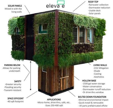 Elevated Sustainable Homes - This Elevated Eco House is a Practical Space That Reduces Waste