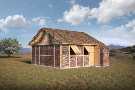 Rubble-Based Emergency Shelters - These Modular Shelters are Made from Brick Rubble