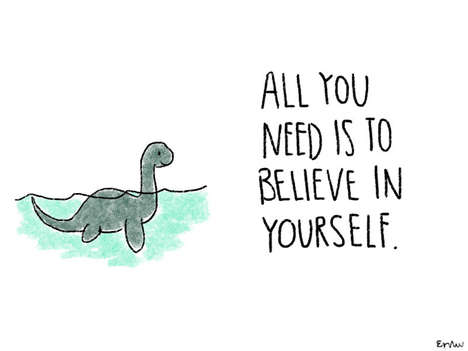 Uplifting Animal Illustrations - These Drawings Reaffirm Through Simple Inspirational Quotes