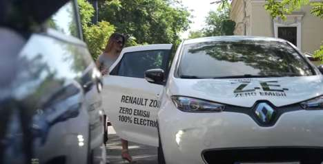Rewarding Eco Rideshares - Uber Shows Off the Renault Zoe as an Zero-Emission Vehicle