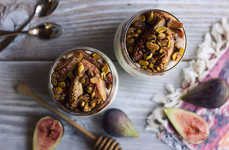 Nutty Fig Yogurts - This Unusual Parfait Recipe is Gluten and Dairy-Free for Those with Allergies