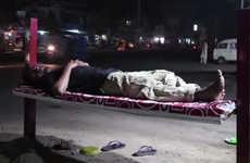 Homeless Billboard Beds - These Foam Adverts Double as Beds for Homeless Laborers in Pakistan