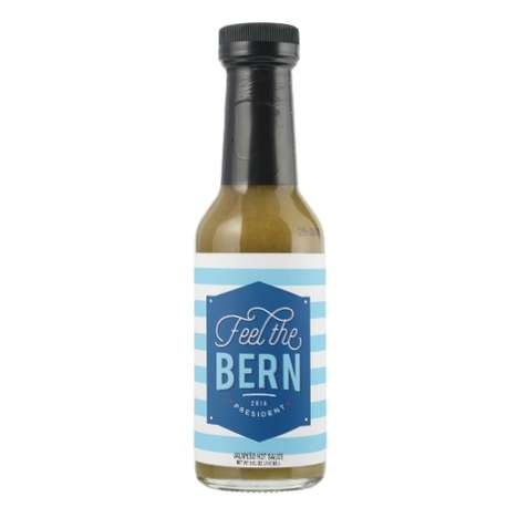 Punny Political Hot Sauces - The 'Feel the Bern' Sauce Promotes Bernie Sanders' Political Campaign