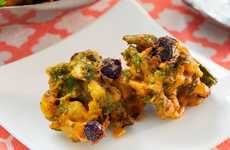 Fruity Fritter Recipes - This Pakoras Recipe Adds Sweet Blueberries to Traditionally Spicy Fritters