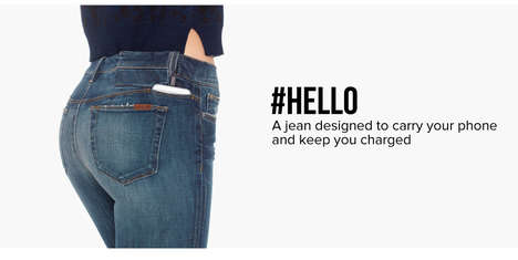 Smartphone-Charging Denim - These Smart Jeans Allows Users to Charge a Phone on the Go