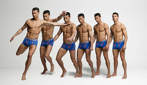 Unretouched Underwear Campaigns - This New CR7 Underwear Campaign Features Soccer-Related Poses