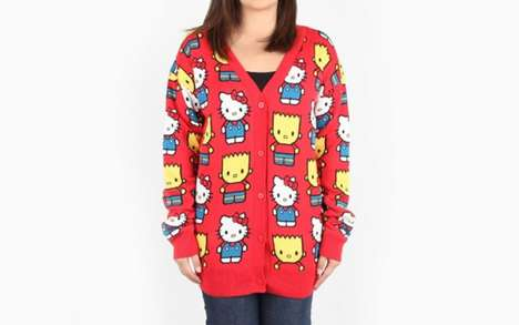 Cartoon Mashup Apparel - The Simpsons x Hello Kitty Collection Offers the Best of Two Cult Classics