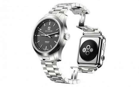 Sleek Reversible Smartwatches - This Pinnacle Watch Features an Apple Watch on Its Back